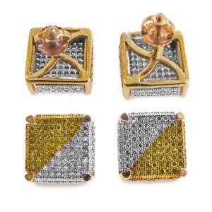 Other - Diamonds Men's Studs Earrings With screw Backs.